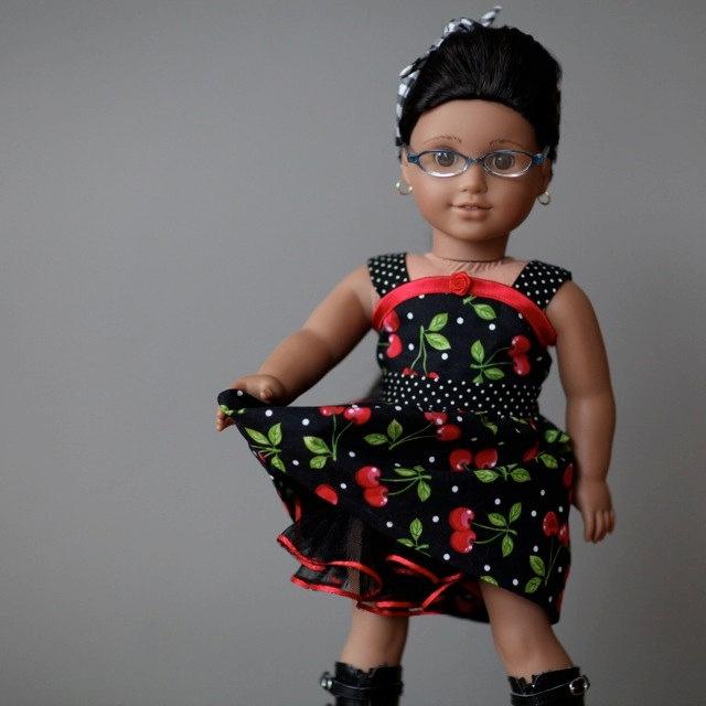 Rockabilly Sun Dress for American Girl Doll. $48.00, foxandfamily via Etsy.
