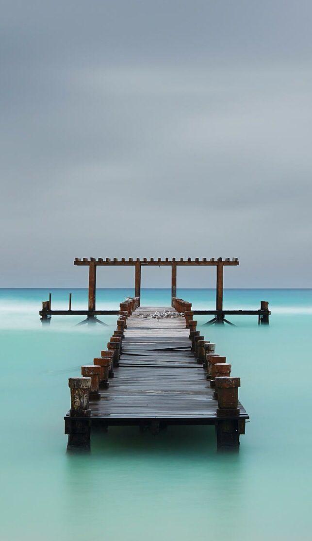 Old pier in Playa del Carmen, Mexico