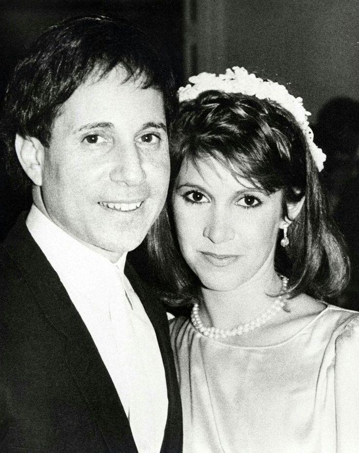 Carrie Fisher & husband Paul Simon