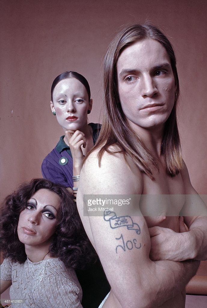 The stars of 'Trash', Holly Woodlawn, Jane Forth and Joe Dallesandro in 1970.
