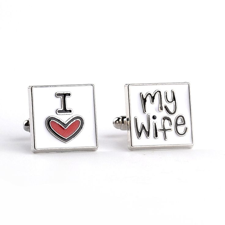 French Style New Design Brand I Love My Wife Cuff Links Men Shirt Cuff Charm Jewelry Romantic Wedding Groom Bridegroom Gifts