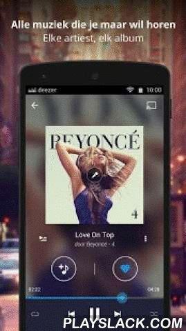 Deezer Music  Android App - playslack.com ,  Met Deezer is muziek GRATIS op je mobiel, tablet en computer.Miljoenen tracks wachten op je. Jouw favoriete artiesten wachten ook. Luister zonder beperkingen.De combinatie van de excellente muziekkennis van onze Deezer redacteuren en onze slimme algorithmes geven je GEPERSONALISEERDE AANBEVELINGEN waarmee je non-stop muziek die jij te gek vindt kunt luisteren.Deezer in de GRATIS modus:- Luister naar FLOW en ontdek nieuwe favorieten- Geniet van al…