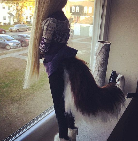 BJD Curved Dog Tail  Variety of Colors by ALittleTail on Etsy, $10.00