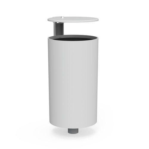 Public trash can / steel / roto-molded / plastic POINT LARUS DESIGN