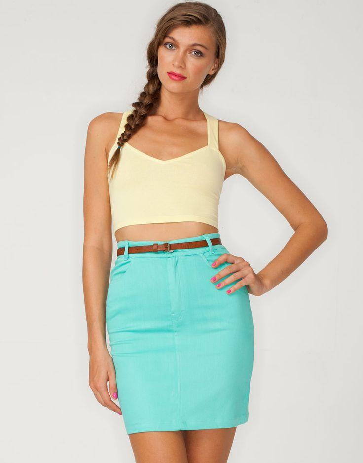 i high waisted skirts style