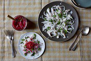 Ceviche med syltede grønnsaker