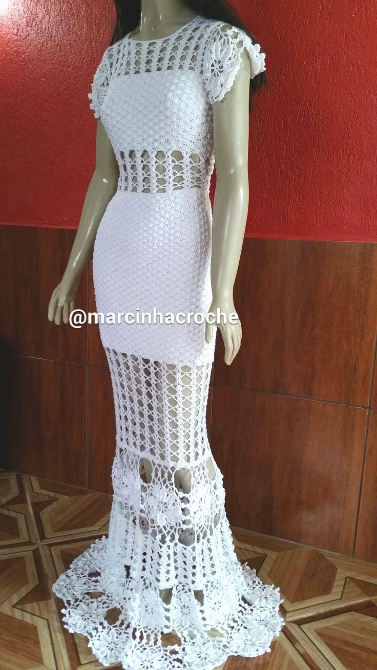 Marcinha crochê: Vestidos longos de croche