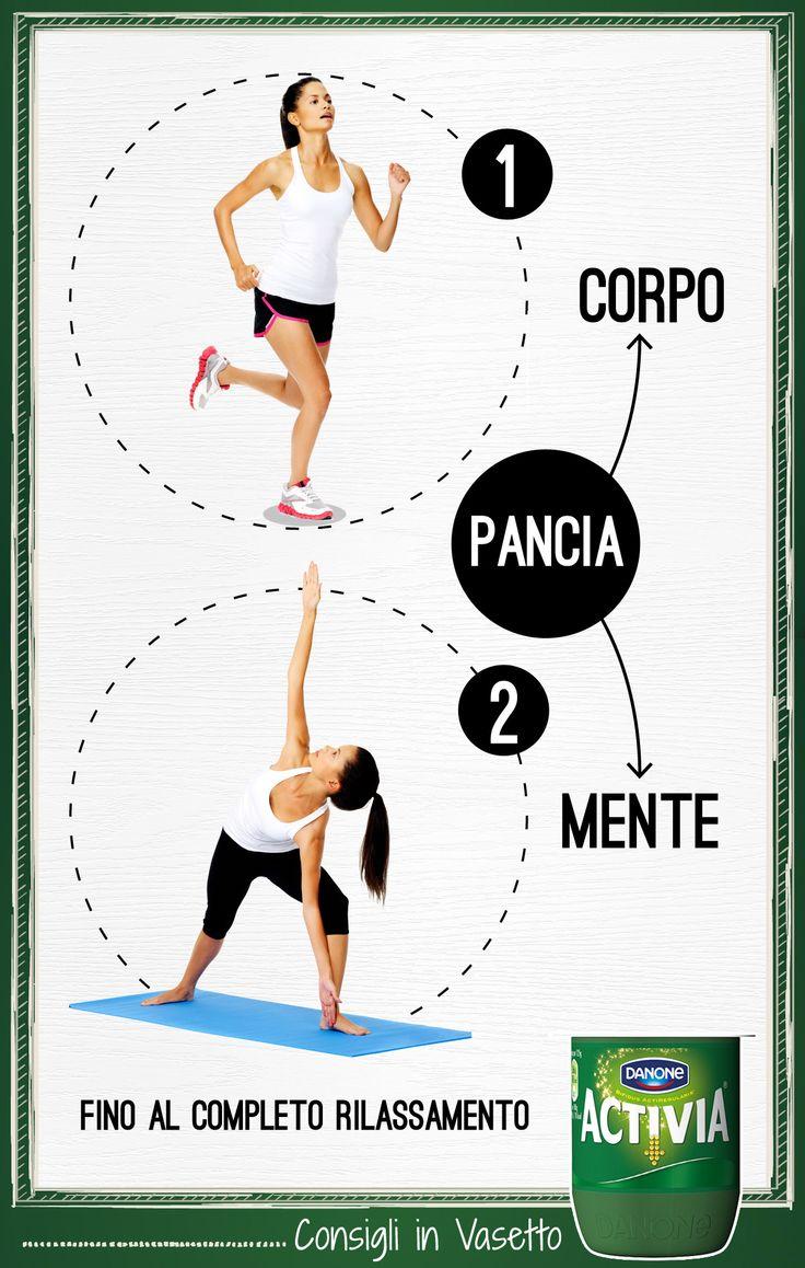 Ci sono attività fisiche che, in combinata, sono ancora più efficaci per la pancia! Prova la corsa abbinata allo #yoga per #riACTIVIAre #corpo e #mente!