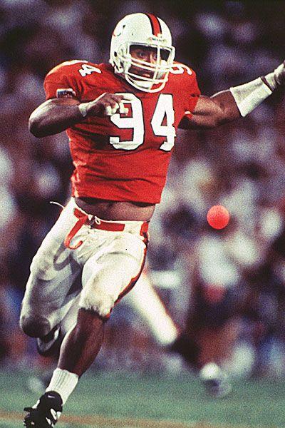 Dwayne Johnson # 94 Miami Hurricanes DE