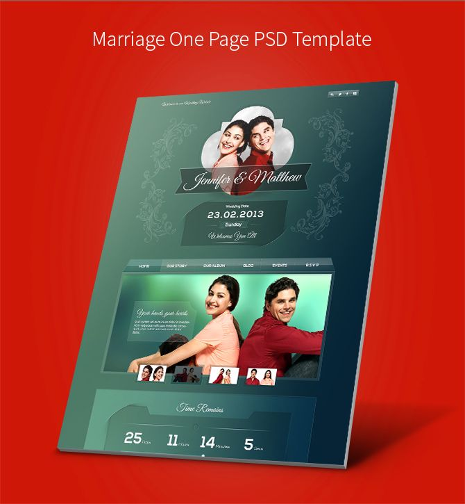 Sunday Freebie: Wedding & Edge PSD Templates