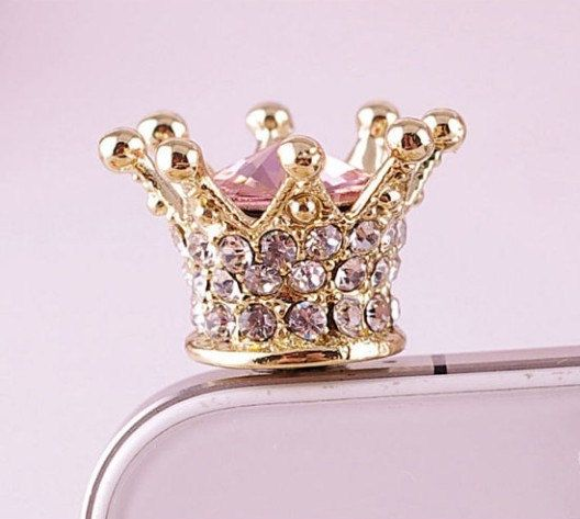 imperial crown iphone plug cell phone earplug by iphonecasestar, $2.99