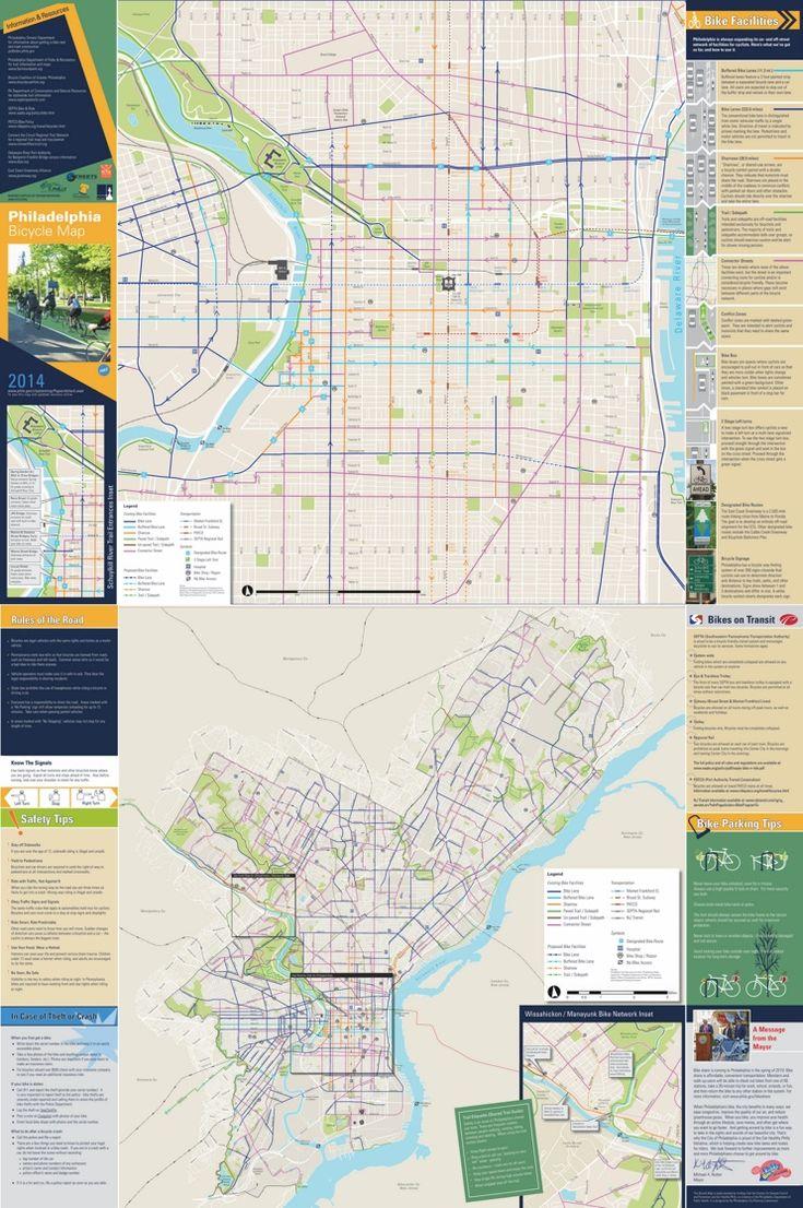 Philadelphia bike map 23 best Bicycle maps