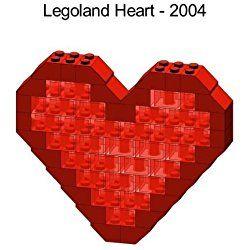 Lego Valentines Day Heart Mini Model Parts & Instructions Kit