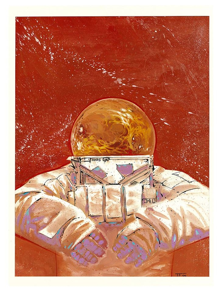 Mars Astronaut , art for sale !