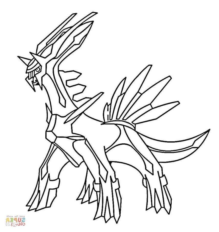 Legendary Pokemon Coloring Pages Pokemon coloring