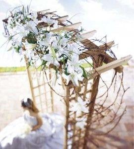cool angle: Ceremony Arbors, Diy Ideas, Outdoor Wedding Arbors, Archway Flowers, Wedding Ideas, Arches, Arbor Ideas, Angle, Outdoor Weddings