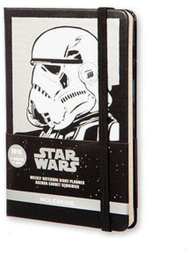 Kalendarz Moleskine Star Wars 12M 2016 czarny