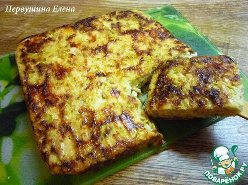 Запеканка кабачковая с овсяными хлопьями - кулинарный рецепт