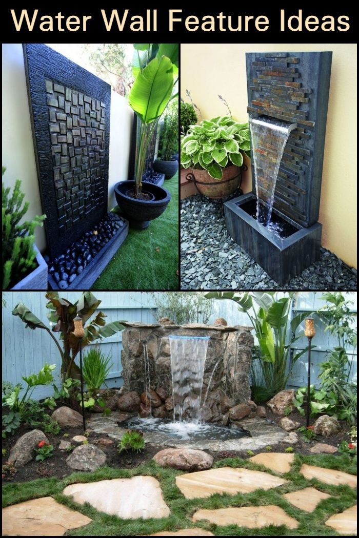 Water Wall Feature Ideas Water Features In The Garden Backyard