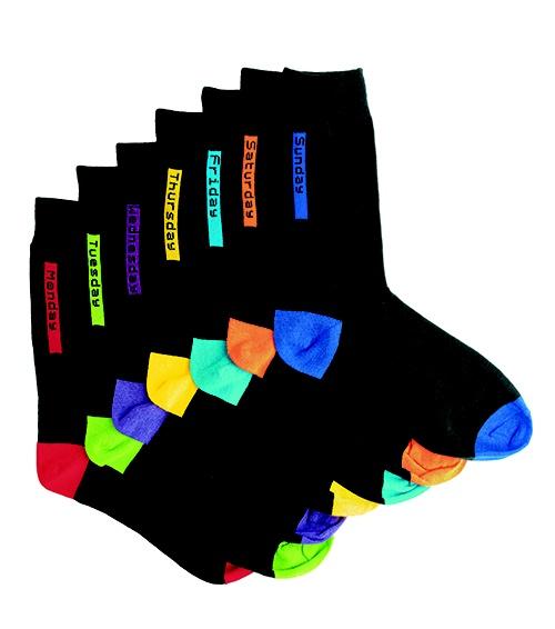 7-pack multi socks