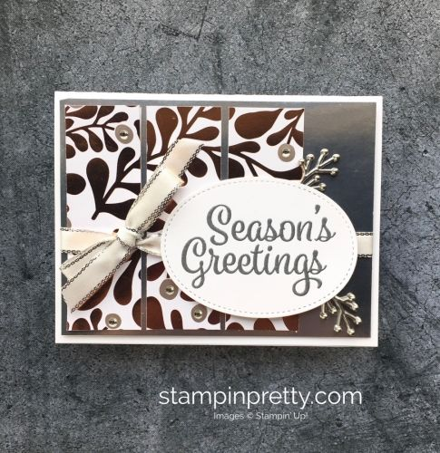 Learn how to create a simple Christmas holiday card using Year of Cheer - Mary Fish StampinUp