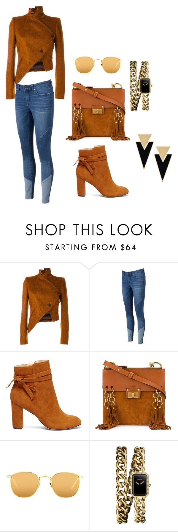 """casual brown"" by riesta-divanda-devi-chattleya on Polyvore featuring Ann Demeulemeester, Jennifer Lopez, Sole Society, Chloé, Linda Farrow, Chanel, Yves Saint Laurent and topic"