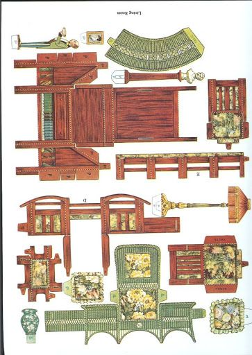 1000 Images About 3d Paper Doll Furniture Toys