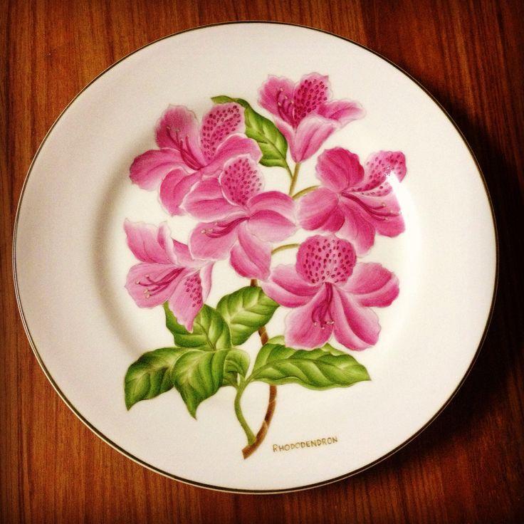 """Pratos """"Botânica"""" pintados a mão"""