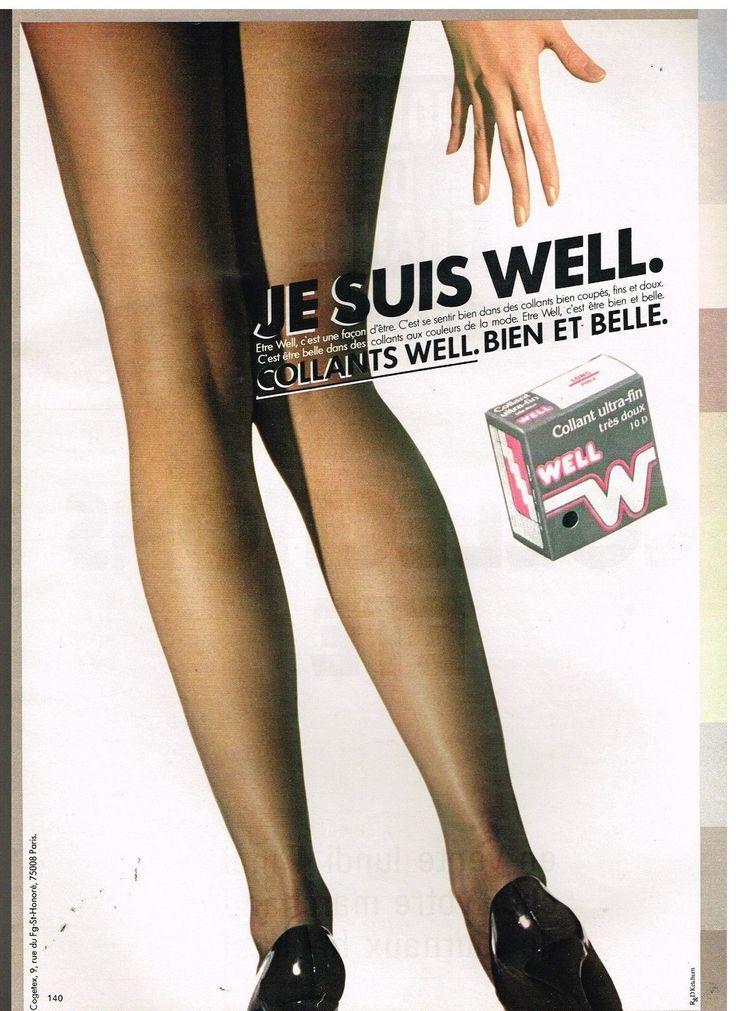Publicité Advertising 1981 Les Bas et Collants Well | eBay
