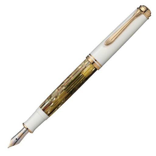 【ペリカン】【万年筆】 スーベレーン M600 ホワイトトータス真のクラシック1929年ペリカン社は世界で最初にディファレンシャル・ピストン・メカニズムを発表しました。万年筆内部に内蔵されるピストン部…