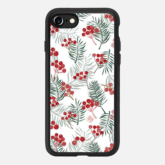 Happy Hoildays December White Xmas by imushstore - Classic Grip Case
