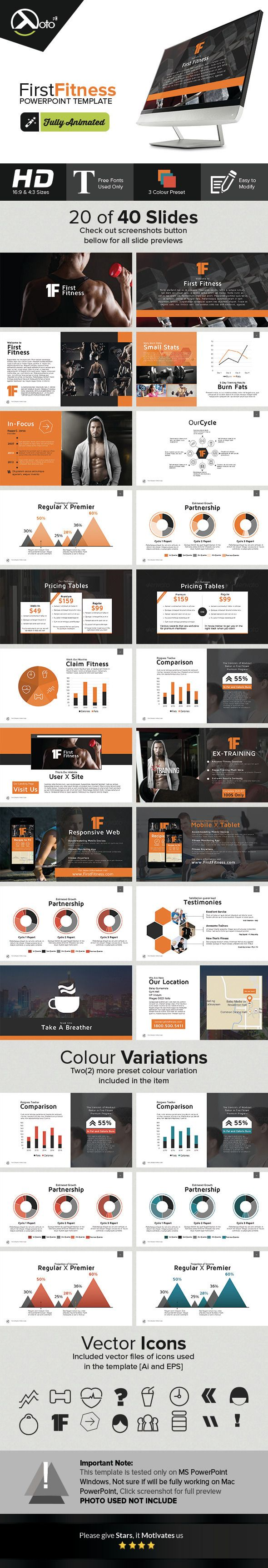 First Fitness Gym & Product Company Presentation (Powerpoint Templates) First Fitness Gym &amp