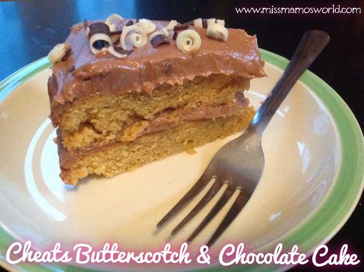 Cheats Butterscotch Chocolate Cake from Miss Mamo's World