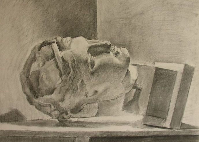 charcoal on paper  50 x 70   Kelly Papastogiannoudi