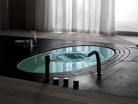 In ground bath tub, want this for sure!!