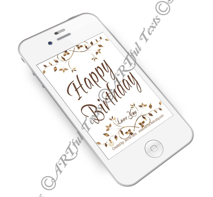 HAPPY BIRTHDAY - Text Message by ARTfulTexts on Etsy