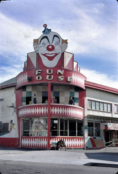 San Francisco's Playland at the Beach. I love visiting the funhouse so  much. My