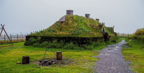 Vikings' house, L'Anse Aux Meadows, Newfoundland, Canada-2 by Fotoplo, via Flickr