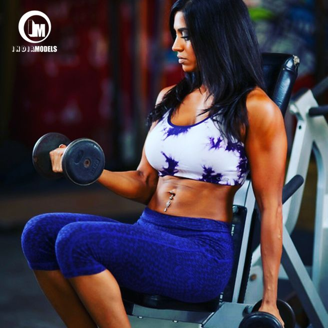Huston based Indian American fitness model and trainer Priya Binion