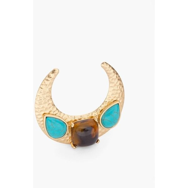 Chico's Faux-Turquoise Moon Pin ($49) ❤ liked on Polyvore featuring jewelry, brooches, turquoise, chicos jewelry, blue turquoise jewelry, artificial jewellery, turquoise jewelry and turquoise jewellery