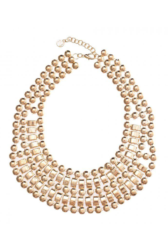 Circles Chain Bib Necklace $14.95