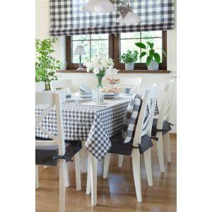 Checkered dining room. #dekoriapl #blue #chceckered #pattern #diningroom #spring #interior #furniture #design #spring