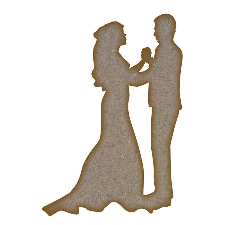 1,72+4,36 Wedding Couple MDF Laser Cut Craft Blanks in Various Sizes