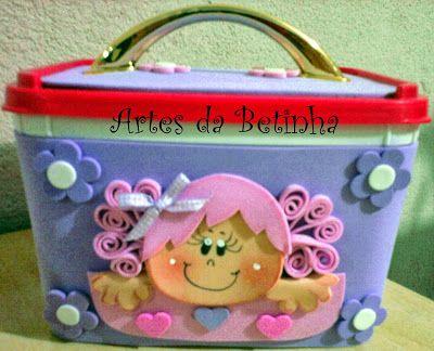 Artes da Betinha: Potes de Sorvete Decorados!