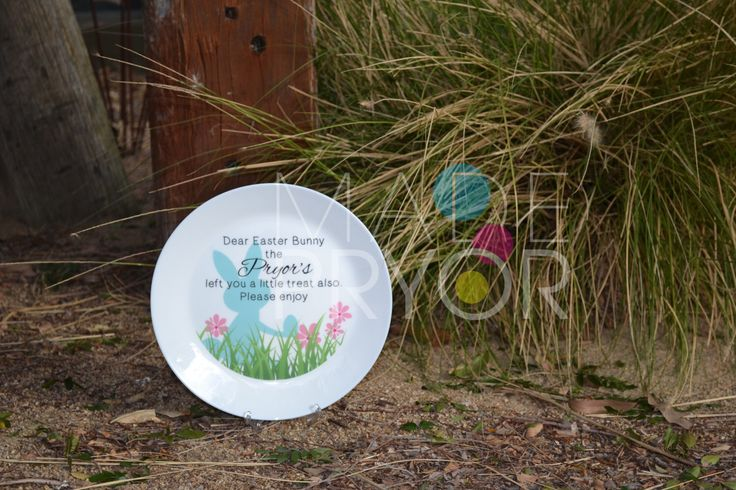 A personal favourite from my Etsy shop https://www.etsy.com/au/listing/262464131/personalised-easter-plate-treats-for-the