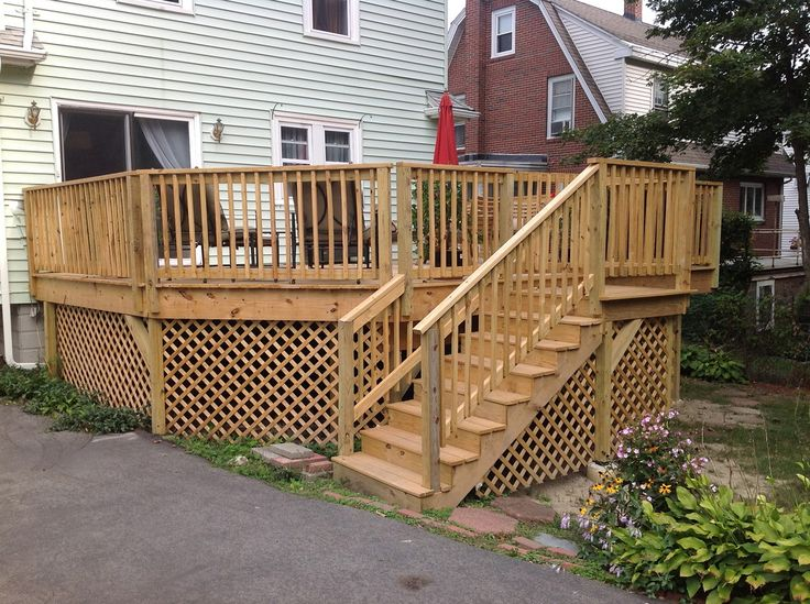 deck build on pinterest decking deck posts and deck stair railing