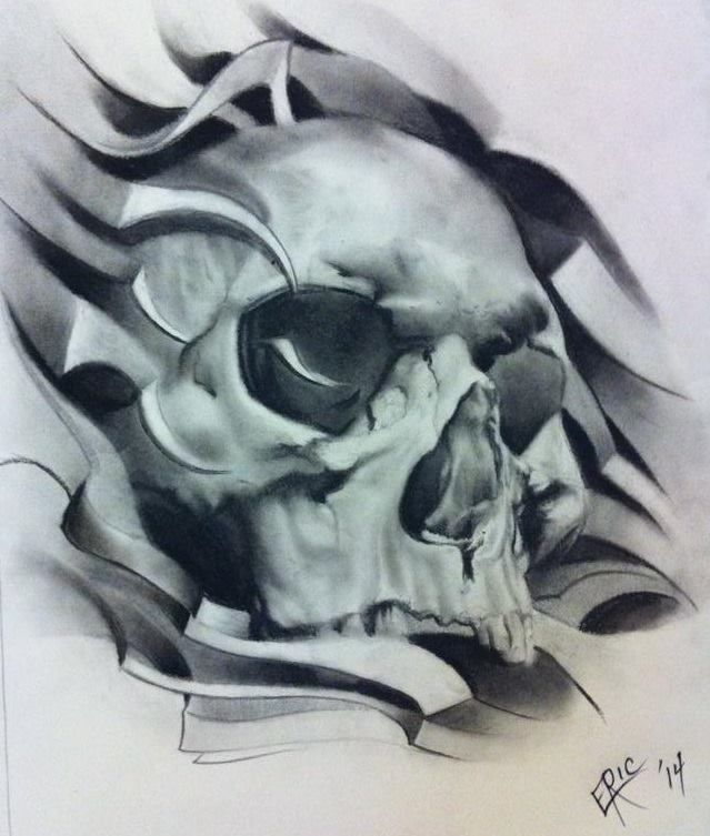 33 best Realistic Skull Tattoo Designs Drawings images on ...