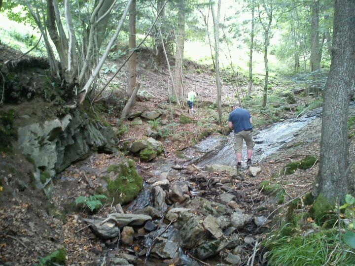 Prachtige, uitdagende wandeltocht langs het riviertje de Ninlingspo, 5 km vanaf camping Olympia in Remouchamps