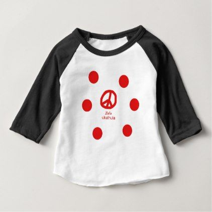 #Zulu Language And Peace Symbol Design Baby T-Shirt - #country gifts style diy gift ideas