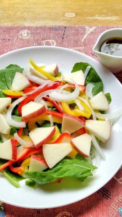 ルッコラとりんごの彩りサラダ☆ by snow kitchen☆ さん | レシピ ...